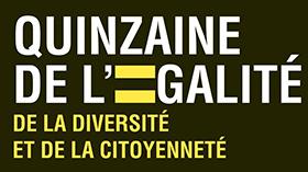 Logo quinzaine de l'égalité de la diversité et de la citoyenneté