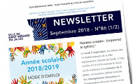 newsletter de septembre