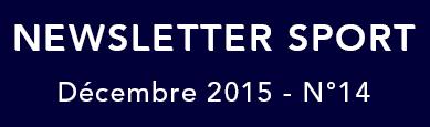 Newsletter Sport du mois de décembre de la ville de Saint-Médard-en-Jalles