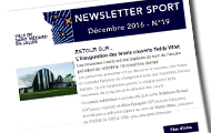 newsletter sport de décembre