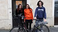 zélie, andréas et Manon les ambassadeurs du vélo
