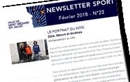 newsletter sport de février
