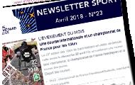 newsletter sport d'avril