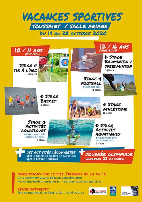 Vacances sportives - Toussaint 2020