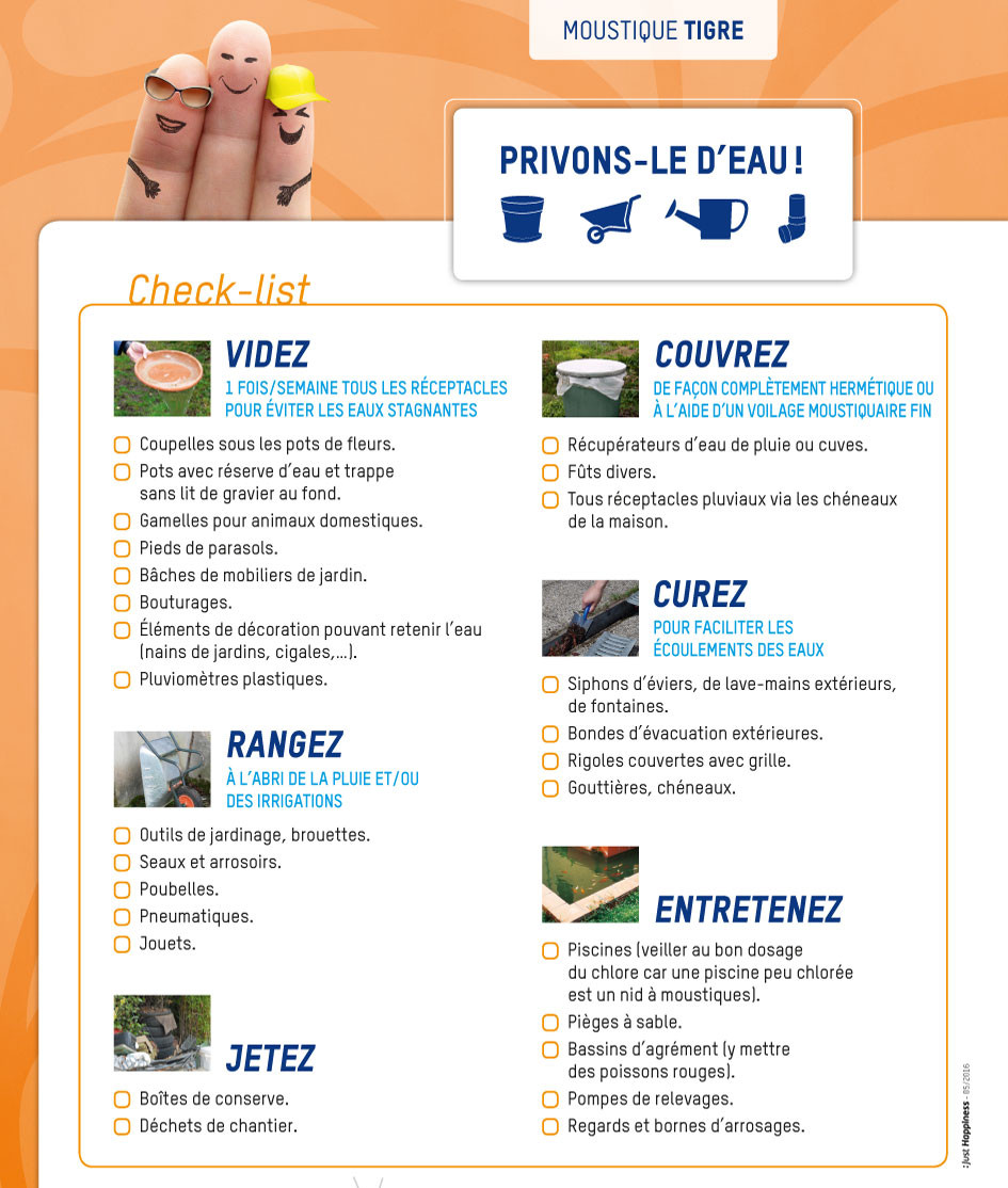check list moustique