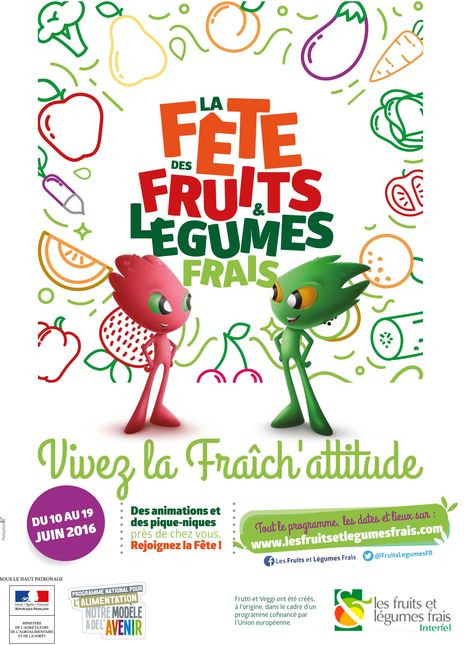Les fruits et les légumes frais
