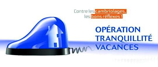 Opération tranquillité vacances logo