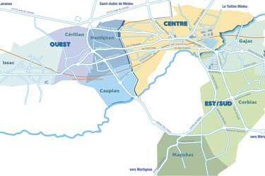 Plan des quartiers de Saint-Médard-en-Jalles