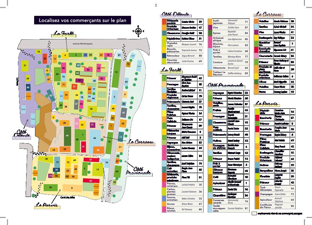 Plan du nouveau marché