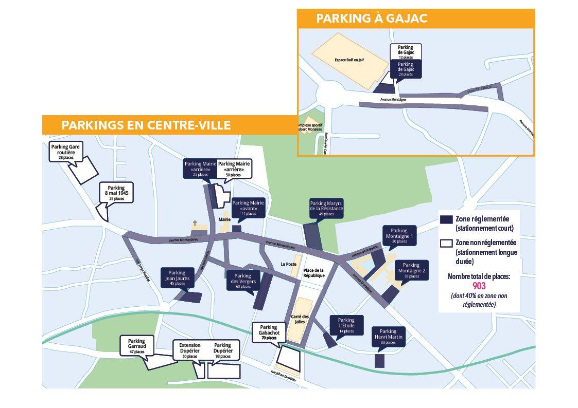 Plan des parkings en zone reglementee