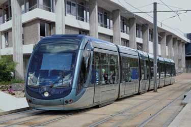 La ligne D du tramway à Saint-Médard