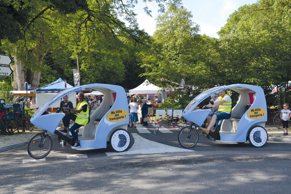 Vélo-taxi du marché